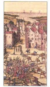 Религиозные войны католиков и протестантов века Новая  Испанские солдаты по приказу Филиппа ii сгоняют протестантов на городскую площадь и предают смертной казни