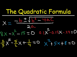 how to use the quadratic formula to
