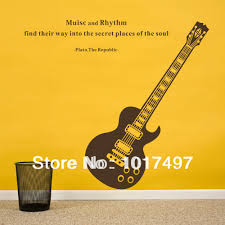 wall decal family art bedroom decor free shipping fashion guitar music removable wall stickers art quote decoration decals quotes family room musical