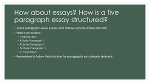 what is good writing an introduction to good writing paragraph 5 how about essays