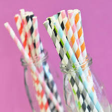 Striped Paper Straws For Mason Jars Drinking Straws Etsy
