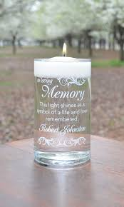 Light A Candle In Memory Poem Memorial Candle Here Comes The Bride White Personalized