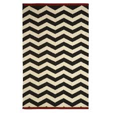 west elm zigzag rug iron 5x8