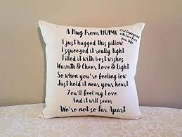 amazon missing you gift pillow deployment gifts homesick gifts gifts for deplo boyfriend gifts for deplo husband gifts for deplo wife