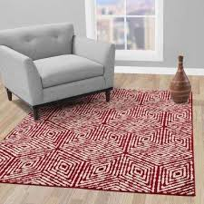 jasmin collection red and ivory 5 ft 3 in x 7 ft 3