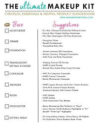 the ultimate makeup kit checklist free printable annemariemitc