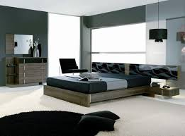 Bedroom: Modern Wooden Bedroom Sets With Black Chair And Black ...