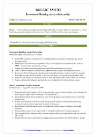 Resume Models Best Investment Banking Analyst Resume Samples QwikResume
