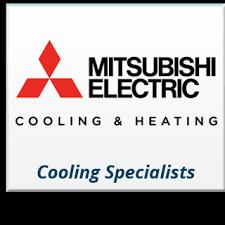 mitsubishi electric cooling and heating logo. goodman heating baltimore, md mitsubuishi electric cooling \u0026 baltimore mitsubishi and logo