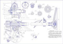 Скачать чертеж рулевого управления трактора автомобиля Рулевое управление автомобиля