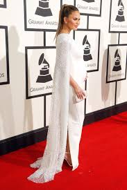 Celebrity Maternity Designers Chrissy Teigens Regal Cape Dress Will Sweep You Right Off