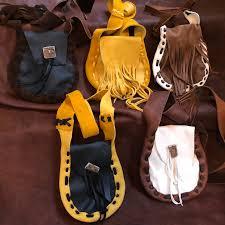 8 leather hand bag medicine bag