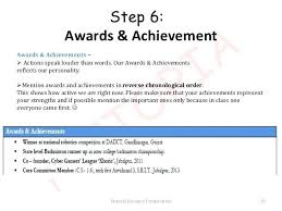 How To Write The Achievements In The Resume Resume Accomplishments