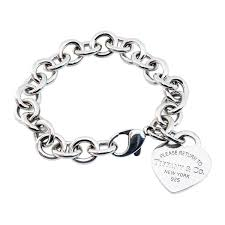 please return to tiffany heart tag charm bracelet gallery image