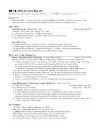 Inspiration Sample Resume Research Associate On Molecular Biology