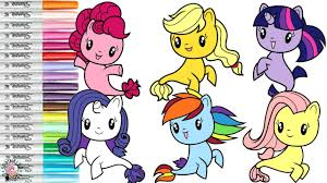 My Little Pony Cutie Mark Crew Coloring Book Compilation Seaponies