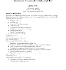 Sample Resume Free Simple Computer Technician Sample Resume Mechanic Auto Templates Examples