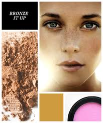 your bronzer blends into your freckles