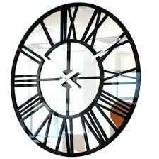 marvelous large mirror clock for wall extra large black roman mirrored wall clock marvelous large mirror