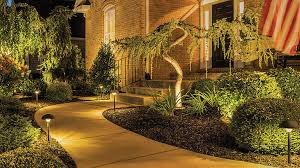 led walkway lights. A Walkway To Brick House\u0027s Front Door Is Illuminated With Trex LED Landscape Lighting Led Lights Y