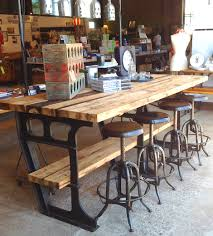 Industrial Kitchen Furniture Vintage Metal Kitchen Tables And Chairs Iron Wood Industrial