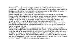 amana portable air conditioner ap125hd manual google docs