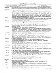 Special Education Resume Samples Attractive Teacher Example High
