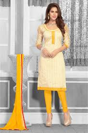 Chanderi Combo Salwar Suit In Beige And Red Colour