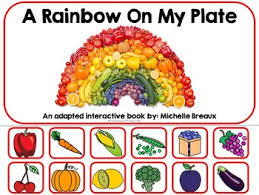 Rainbow On My Plate Adapted Book Nutrition Colors Autism Sped