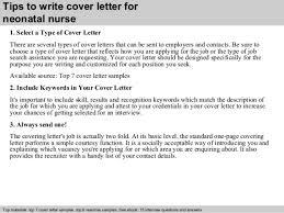 neonatal nurse cover letter 5107e9a0