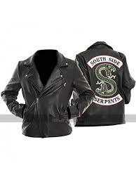 womens jughead biker black leather jacket riverdale southside serpents outerwear