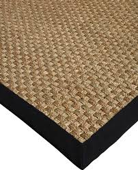 lancaster seagrass rug black handcrafted cotton border transitional area rugs by natural area rugs