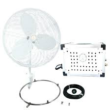 inch mid pressure oscillating misting fan kit for outdoor living space mister industrial holmes spa