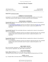 Resume Power Statement Examples Stupendous Functional Resume Format