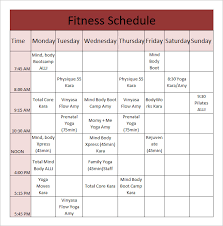 weight lifting workout chart schedule template