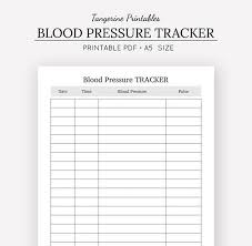 blood pressure readings log blood pressure tracker health journal a5 insert a5