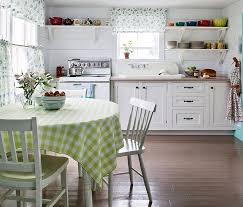 view in gallery white kitchen with open shelves and a farmhouse style