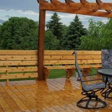 wood deck cost. Deck With Dining Set Wood Cost