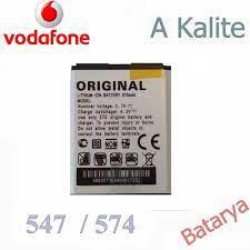 A Kalite Vodafone 547 574 A Kalite 1. Sınıf Batarya Telefon Pili Fiyatı ve  Özellikleri - GittiGidiyor
