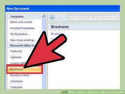 Pamphlet Template Microsoft Word Microsoft Word 2007 Brochure Template Salonbeautyform Com