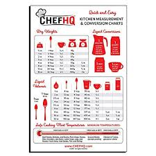 Liquid Measurement Conversion Chart Amazon Com Chefhq Kitchen Conversion Chart Magnet Kitchen