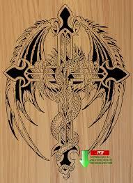 downloadable scroll saw patterns. 07-1063 - dragon cross downloadable scrollsaw woodworking plan pdf scroll saw patterns l