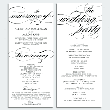 Bulletin Templates Word Template Wedding Ceremony Template Word Program Templates Free