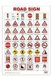 Road Signs Chart India Buy Road Traffic Signs 50x75cm Book Online At Low Prices