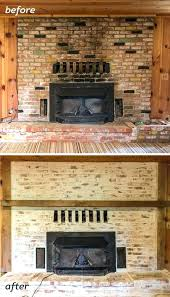 lime wash brick fireplace mortar wash brick fireplace tutorial cottage flip update lime wash brick fireplace