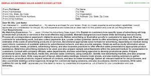 advertising sales agent cover letter advertising sales agent cover letter