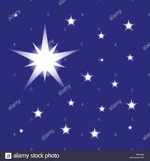 Starry Night Design Starry Night Sky Vector Isolated On Blue Background