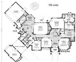 tudor house plans. Main Floor Plan: 8-608 Tudor House Plans