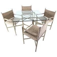 mid century modern dining table with four chairs