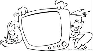 tv coloring pages. Brilliant Pages Tv Coloring Pages Page Kids Watching Arrow Show Emergency    With Tv Coloring Pages A